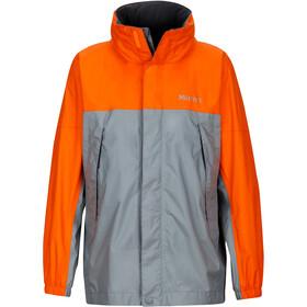 Marmot PreCip Jacket Barn grey storm/bright orange